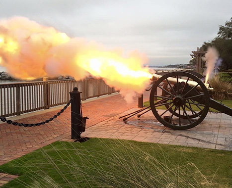 Firing of the Cannon at the Grand